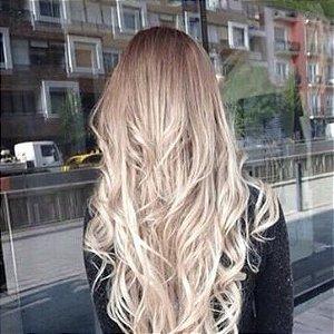 Cabelo loiro ultra claríssimo platinado Martha Hair nº 12, natural liso, com coloração (kit com 25g)