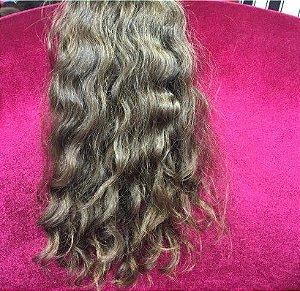 Cabelo loiro escuro Martha Hair nº 6, cacheado, natural, liso (kit com 25g)