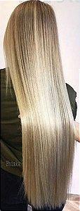 Cabelo loiro claríssimo Martha Hair nº 10, natural, liso, com coloração (kit com 25g)