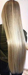 Cabelo loiro claríssimo Martha Hair nº 10, mesclado, natural, liso, com coloração (kit com 25g)