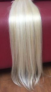 Cabelo loiro ultra claríssimo Martha Hair nº 12, natural, liso, com coloração (kit com 25g)