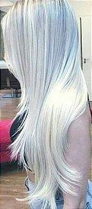 Cabelo loiro ultra claríssimo Martha Hair nº 12, platinado, natural, liso, com coloração (kit com 25g)