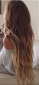 Cabelo loiro muito claro Martha Hair nº 9, ombre hair, natural, ondulado, com coloração (kit com 25g)