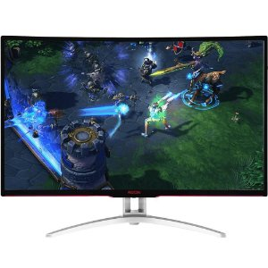 MONITOR GAMER AOC AGON LED 32´ WIDESCREEN CURVO, FULL HD, HDMI/VGA/DVI/DISPLAY PORT, FREESYNC, 144HZ - AG322FCX
