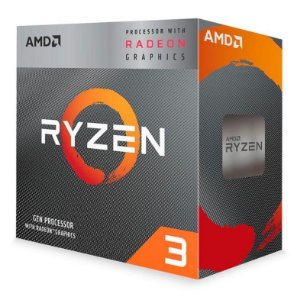 PROCESSADOR AMD RYZEN 3 3200G QUAD-CORE 3.6GHZ (4GHZ TURBO) 6MB CACHE AM4, YD3200C5FHBOX