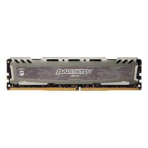MEMORIA CRUCIAL BALLISTIX SPORT LT 16GB (1X16) DDR4 2666MHZ CINZA, BLS16G4D26BFSB
