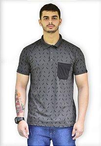 Camisa Polo com bolso Micro estampada Fortman