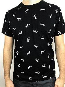 Camisa Micro Estampada Zebra Fortman