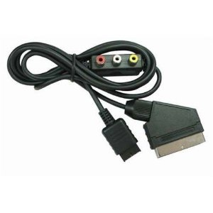 Cabo Av Rgb Scart Com Rca Out Para Playstation Ps2 E Ps3