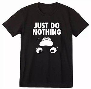 Camiseta Pokemon Snorlax - Just Do Nothing