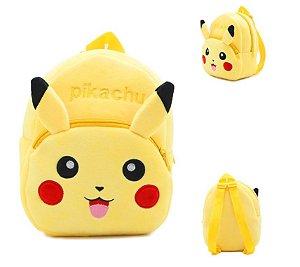 Mochila infantil de Pelúcia Pokémon Pikachu