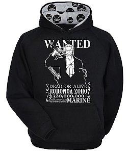 Moletom One Piece - Roronoa Zoro Wanted