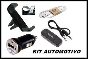 Kit Suporte Carregador Celular Para Carro