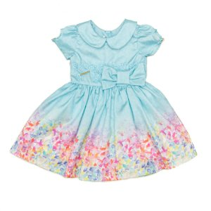 Vestido  Infantil Azul Matinée