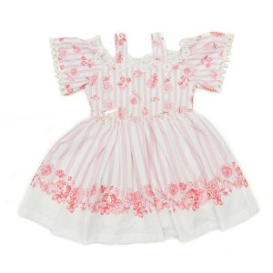 Vestido de Festa  Rosa Floral Matinée