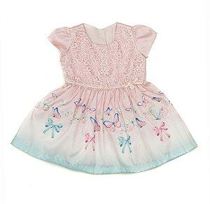 Vestido de Festa Bebe Rosa Matinée
