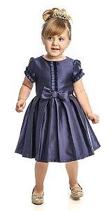 Vestido Festa infantil Azul Matinée