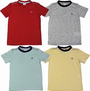 Kit 04 Camisetas Infantis Coloridas Manga Curta Club Z