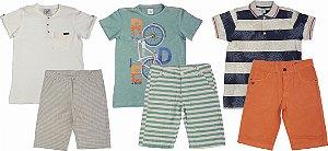 kit 03 Conjuntos Infantis Masculino Verão de Club Z