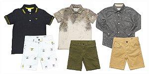 Kit 03 Conjuntos Infantil Masculino  Verão Club Z