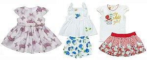 Kit 03 Conjuntos Variados Menina Baby Matinée