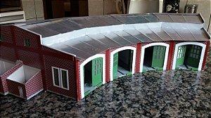 Depósito/Oficina para 4 Locomotivas H.O.