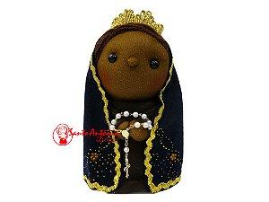 Boneca Nossa Senhora de Aparecida de Pano Artesanal Colecionável para Decoração