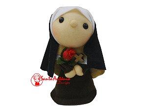 Boneca Santa Terezinha de Pano Artesanal Colecionável para Decoração