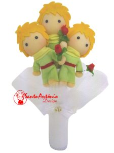Buquê de Noiva Pequeno Príncipe com 3 em Feltro Para Casamento Artesanal
