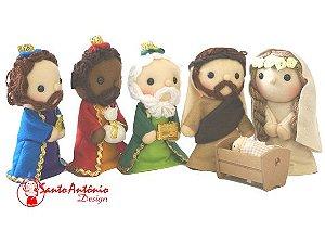 Presépio de Natal Completo em Feltro Artesanal