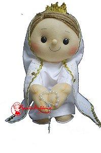 Boneca Nossa Senhora de Fátima Artesanal