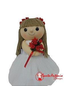 Boneca Daminha Florista Artesanal para Casamento