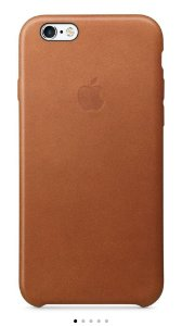 Apple Case Couro Saddle Brown