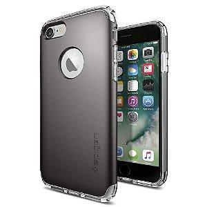 Case, Spigen® iPhone 7  [Hybrid Armor] AIR CUSHION [Gunmetal] Clear TPU / PC Frame Slim Dual Layer Premium