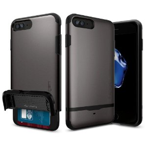 Case Spigen [Flip Armor] Card Holder  Slim Fit Dual Layer Protective with Card Holder Case for Apple iPhone 7 e Plus
