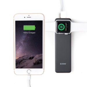 Power Bank Charger by ZENS – Pocket Sized Travel Apple Watch and iPhone Wireless  4000 mAh – Apple MFi Certified