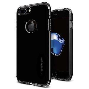 Case Spigen Hybrid Armor iPhone 7 Plus Case Jet Black Optimized Color and Air Cushion Technology and Hybrid Drop Protection