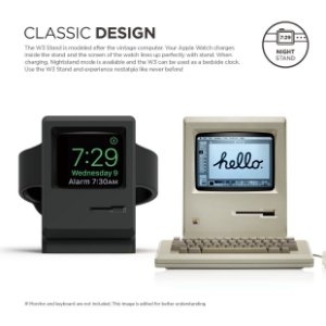 Stand Elago W3 [Vintage Apple Monitor][Supports Nightstand Mode][Cable Management] - for Apple Watch Series 1 and 2