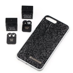 "Case Kamerar ZOOM Lens Kit para ""Apple iPhone 7 Plus"" Smartphone Camera: Dual Optics System, Fisheye, Telephoto, Macro Zoom Lens, Protective Case, Full Port Access"