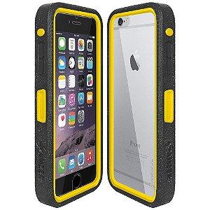 Case Amzer Crusta Rugged a prova de queda e com vidro temperado incorporado com clipe de cinto coldre para o iPhone 6 e Plus