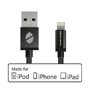 Cabo ZeroLemon [Apple MFi Certified] Lightning Nylon 3m + Aluminum