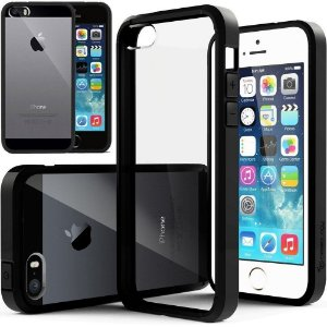 Case Caseology Fundo Transparente Bumper Apple resistente a riscos TPU iPhone 5s/5