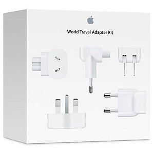 Kit adaptador de viagem com todas as tomadas do mundo Apple