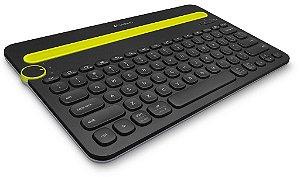Teclado Logitech Bluetooth Multi-Device  K480 para Computadores, Tablets e Smartphones