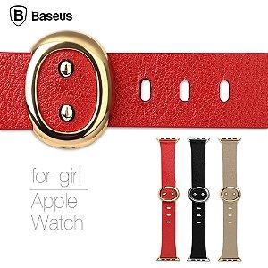 Pulseira couro Genuine  Apple Watch serie mulher