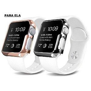 Case Platina Apple Watch luxo