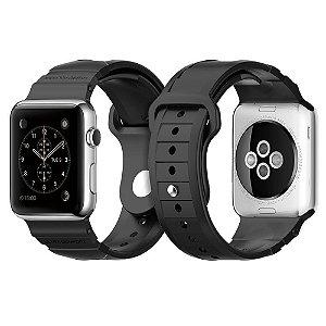 Pulseira Apple Watch Band, Spigen® Apple 42mm [HYBRID POLYMER] Rugged Band Black [ULTRA COMFORT] (2015)