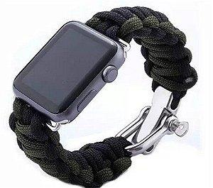 Pulseira SKNBC® Outdoor Survival Sport Buckle Bracelet para Apple Watch 42mm