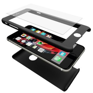 Case Mengo SlimFit 360 com película de vidro temperado na frente iPhone 6/6s Plus/Plus 6s