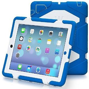 Case TRAVELLOR [Heavy Duty] iPad Case,Three Layer Armor Defender And Full Body Protective Case Cover With Kickstand And Screen Protector for iPad 2/3/4